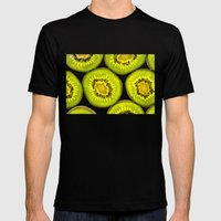 Kiwi Fruit Mens Fitted Tee Black SMALL