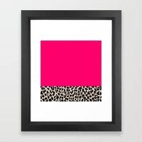 Minimal Leopard Framed Art Print