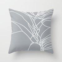 Cracked White on Grey Throw Pillow