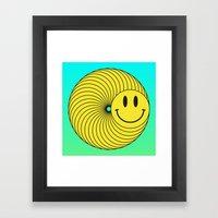 Smiley Ring Framed Art Print