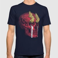 Death Valley Mens Fitted Tee Navy SMALL