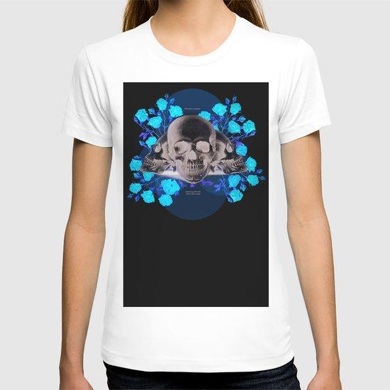 I Became Insane... Edgar Allan Poe Skull Print T-shirt