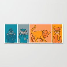 Cat weather Canvas Print