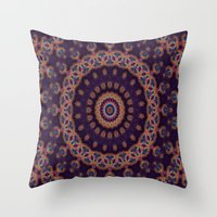 Peacock Jewel Throw Pillow
