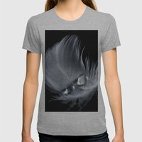 Safe in the Shadows Womens Fitted Tee Athletic Grey SMALL