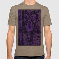 Violet Thoughts - Hearta… Mens Fitted Tee Tri-Coffee SMALL