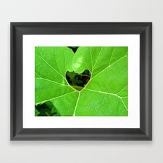 Vegan Love Framed Art Print