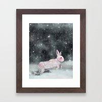 White Rabbit Framed Art Print