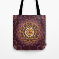 Tote Bag featuring Enchanted Autumn -- Mand… by V. Sanderson / Chick…
