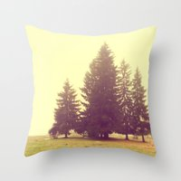 Four In The Mist Throw Pillow