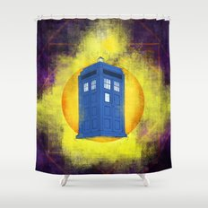 The TARDIS Shower Curtain