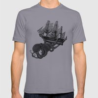 Release the Kraken Mens Fitted Tee Slate SMALL