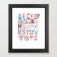 PlayFull Alphabet Framed Art Print