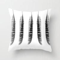 Elegance In Black & Whit… Throw Pillow