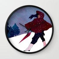 walking on snow Wall Clock