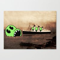 H.M.S. LUNCH. Canvas Print