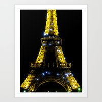 Eiffel Tower at Midnight Art Print