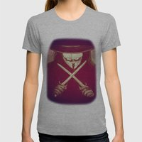 V for Vendetta4 Womens Fitted Tee Athletic Grey SMALL
