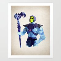 Polygon Heroes - Skeleto… Art Print