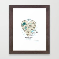 A Map of the Introvert's Heart Framed Art Print
