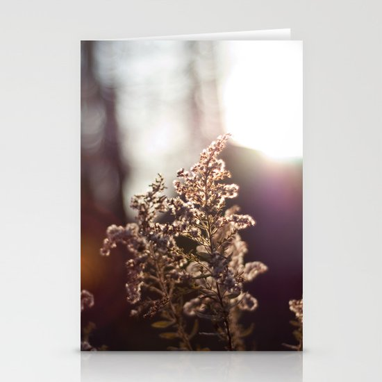 Goldenrod Light Stationery Card
