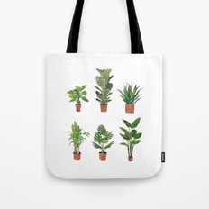 Watercolor Plant Collection Tote Bag