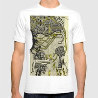 Destructive Nature Mens Fitted Tee White SMALL