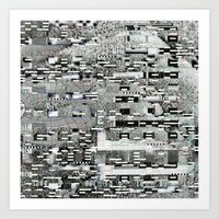 Highly Resolved Ghost (P/D3 Glitch Collage Studies) Art Print