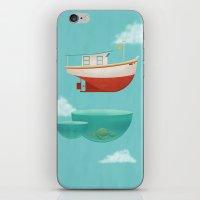 Floating Boat iPhone & iPod Skin