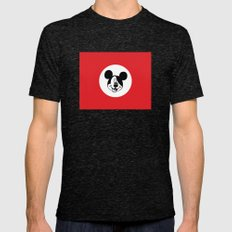 Genosse Mouse Mens Fitted Tee Tri-Black SMALL