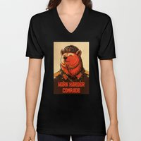 Work Harder, Comrade! Unisex V-Neck