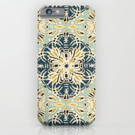 Protea Pattern In Deep T… iPhone 6 Slim Case