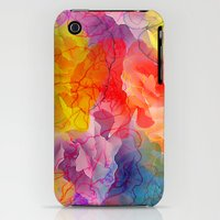 iPhone 3Gs & iPhone 3G Cases featuring Whirlwind of petals(4). by Mary Berg