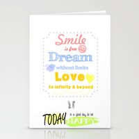 {ENG} SMILE · DREAM · LOVE Stationery Cards
