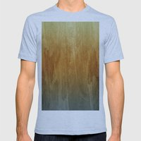 Earthy Water Color Abstract Mens Fitted Tee Athletic Blue SMALL