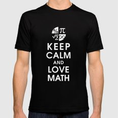 Keep Calm and Love Math Mens Fitted Tee SMALL Black