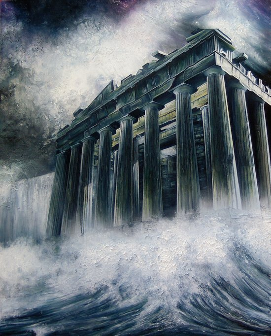 Acropolis Apocalypse  Art Print