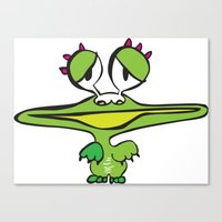 Joy The Frogster Canvas Print