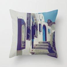 Santorini Walkway V Throw Pillow