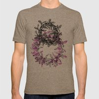 Flowers Circle Mens Fitted Tee Tri-Coffee SMALL