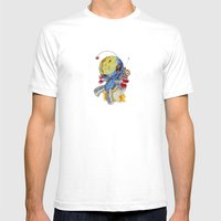 Rocket Bot Mens Fitted Tee White SMALL