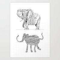 Two Ways To See One Elep… Art Print