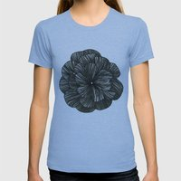 FLOR Womens Fitted Tee Athletic Blue SMALL