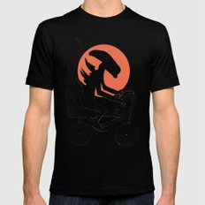alien on a chopper Mens Fitted Tee Black SMALL