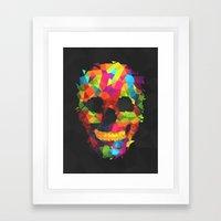 Meduzzle: Colorful Geometry Skull Framed Art Print