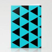 Sleyer Black On Blue Pat… Stationery Cards
