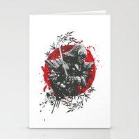Black Samurai Stationery Cards