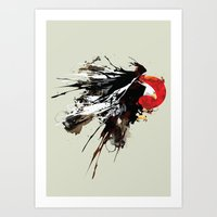 Eruption Eagle Art Print
