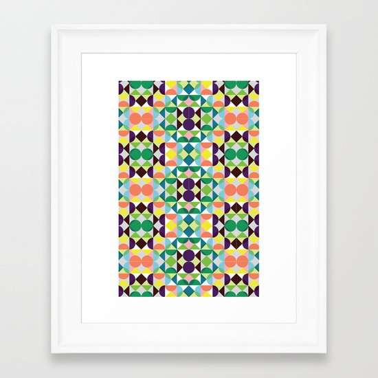 Retro Framed Art Print