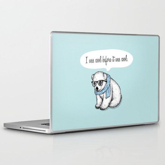 Hipster polarbear Laptop & iPad Skin